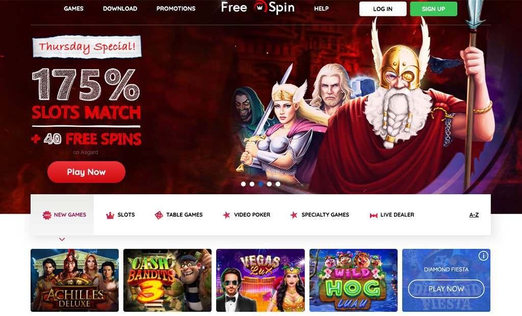 Free Spin Casino Website