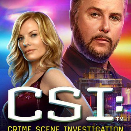 Investigate the crime scene to reveal hidden cash, in CSI: Crime Scene Investigation Online Slot